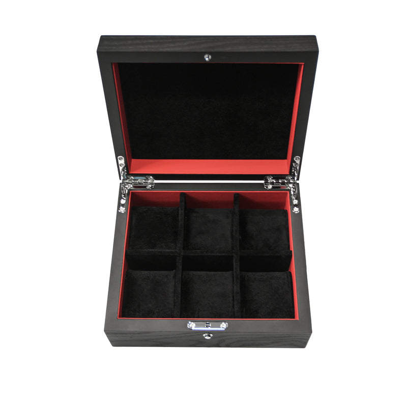 KronoKeeper Black Ash Watchbox - 8 Watches