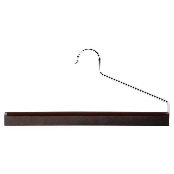 Smoked Brown Beech Wood Trousers Hanger (Set of 5)