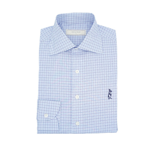 Blue Checked Long Sleeved Shirt
