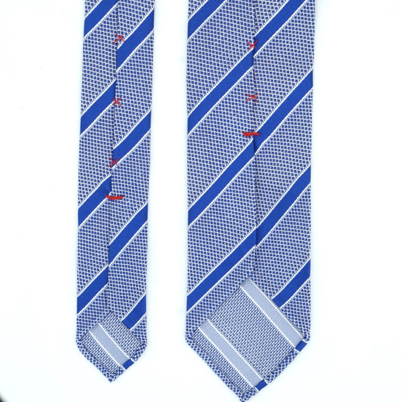 Blue Striped Silk Tie