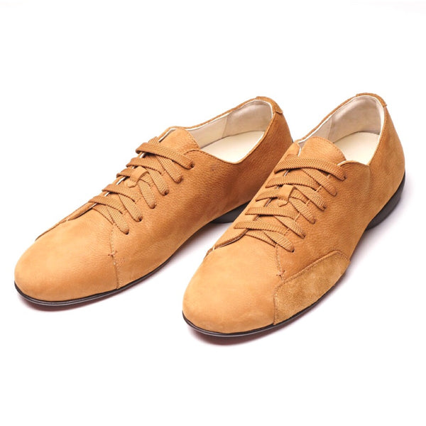 Driving Derby Tan Nubuck Sneakers