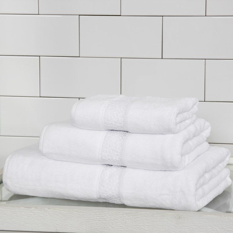 White Forever Lace Cotton Guest Towel