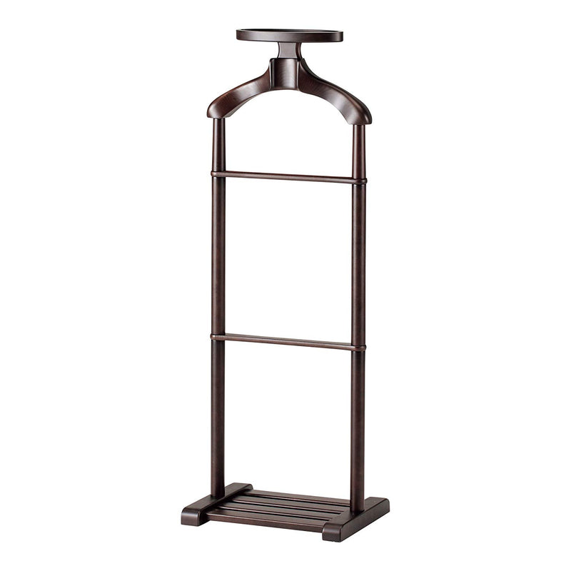 Smoked Brown Beech Wood Giorno Valet Stand