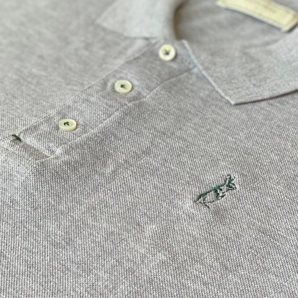 The Classic Kevin Seah Polo Shirt (Light Grey / Green Logo)