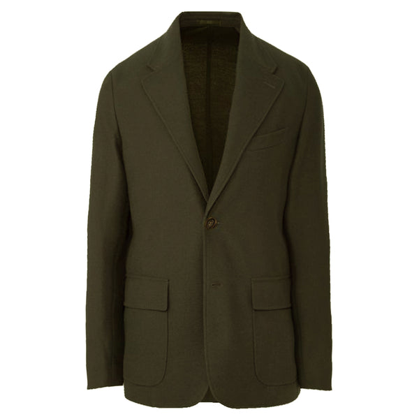 Olive Cotton pique Knit Blazer (Made to Order)
