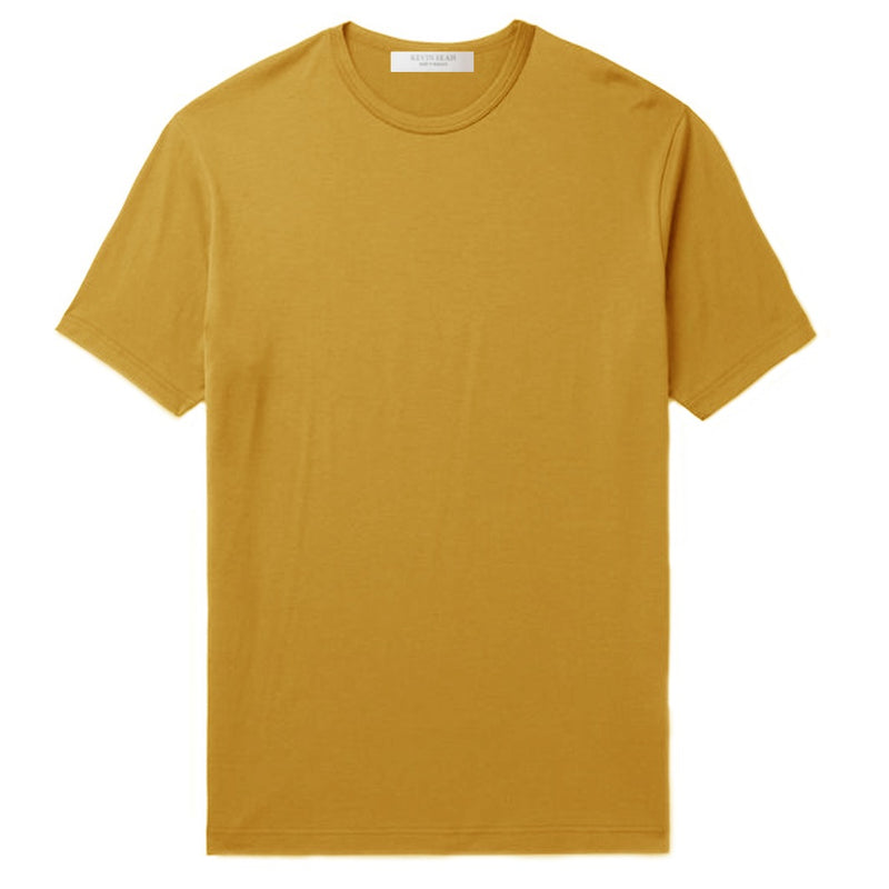 Mustard Cotton Jersey T-Shirt (MADE TO ORDER)