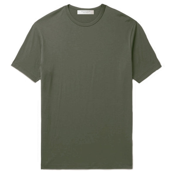 Olive Cotton Jersey T-Shirt (MADE TO ORDER)