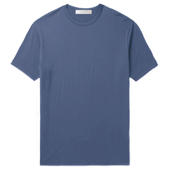Slate Blue Cotton Jersey T-Shirt (MADE TO ORDER)