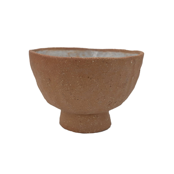 Rust Ceramic Wobbly Bowl