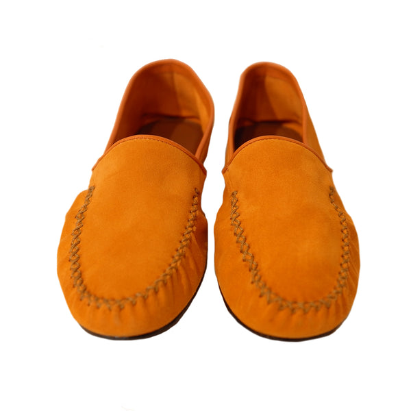 Orange Suede Slipper