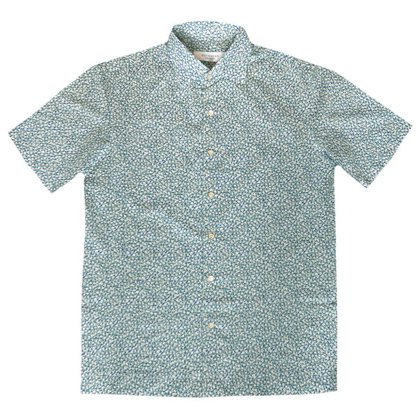 """ISSEI"" Japanese Seersucker Short Sleeved Shirt (Made To Order)"