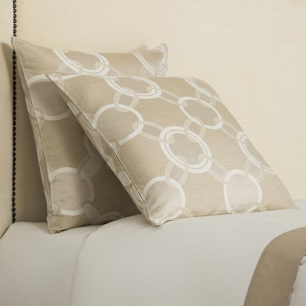 Beige / Ivory Luxury Chains Cushion Cover