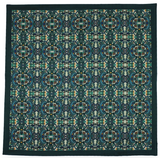 Green Silk Pocket Square - Labyrinth
