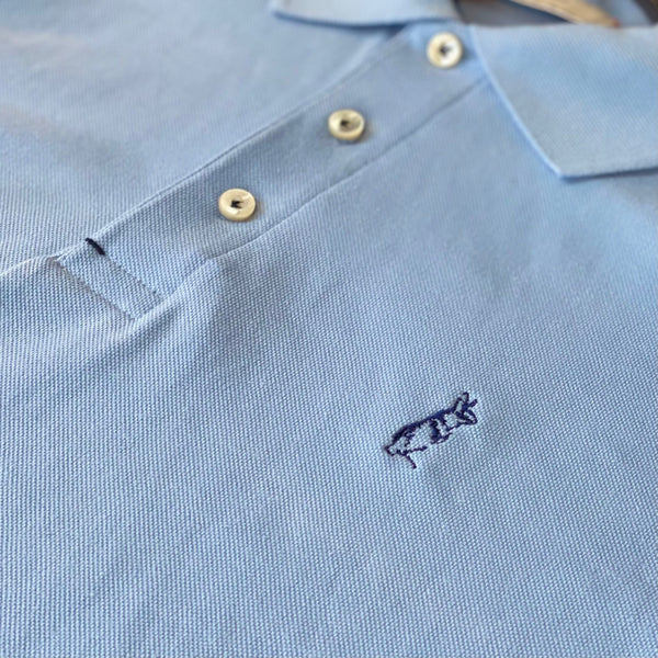The Classic Kevin Seah Polo Shirt (Blue / Navy Logo)