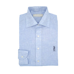 Light Blue Linen Long Sleeved Shirt