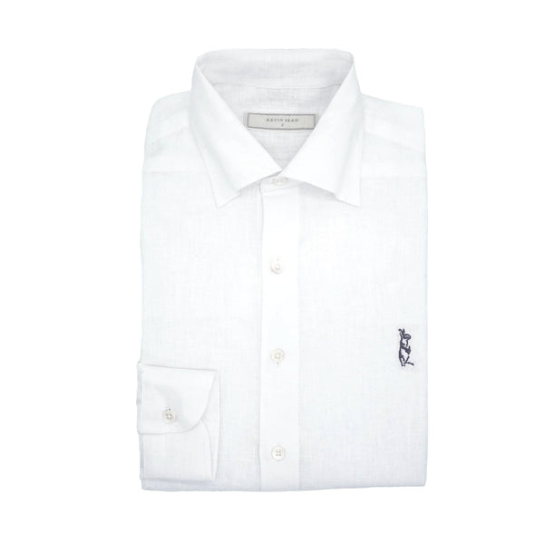 White Linen Long Sleeved Shirt