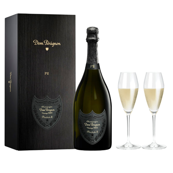 P2 Vintage 2002 with Gift Box - CASE OF 6 BOTTLES (COMPLIMENTARY 6 RIDEL GLASSES)