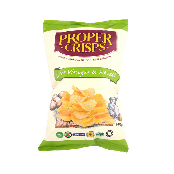Cider Vinegar and Sea Salt Potato Chips - 140g