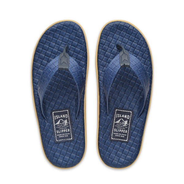 Royal Blue Italian Weave Thong Sandal
