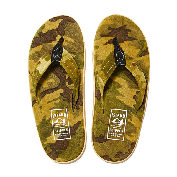 Camo Suede Thong Sandal