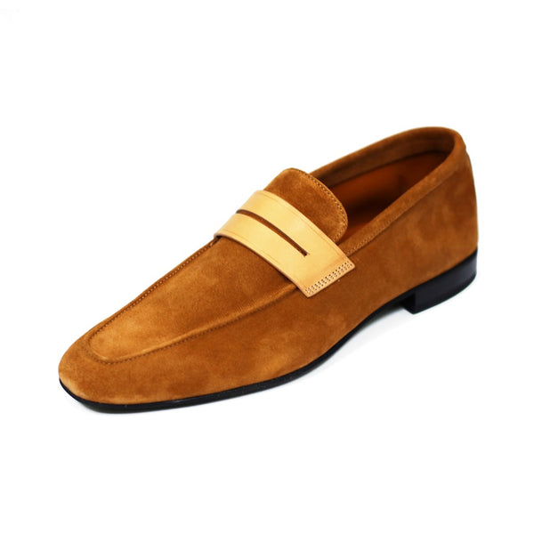 Light Brown Tahiti Suede Loafers