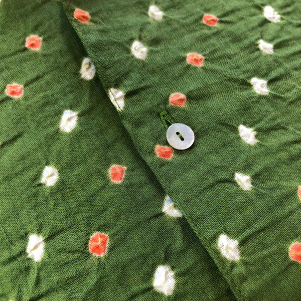 Green Shibori Short Sleeved Shirt