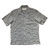 """TOSHI"" Grey Japanese Seersucker Short Sleeved Shirt (Made To Order)"