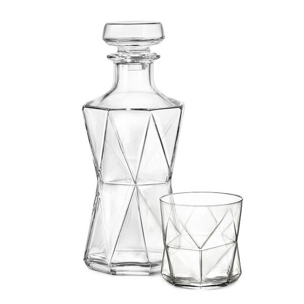 Cassiopea Spirits Set (Decanter w/ 6 glasses)