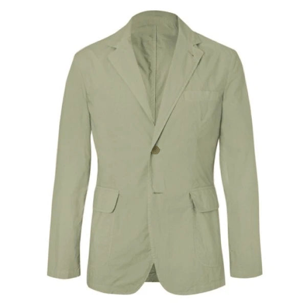 Olive Cotton Unstructured Jacket (Made to Order)