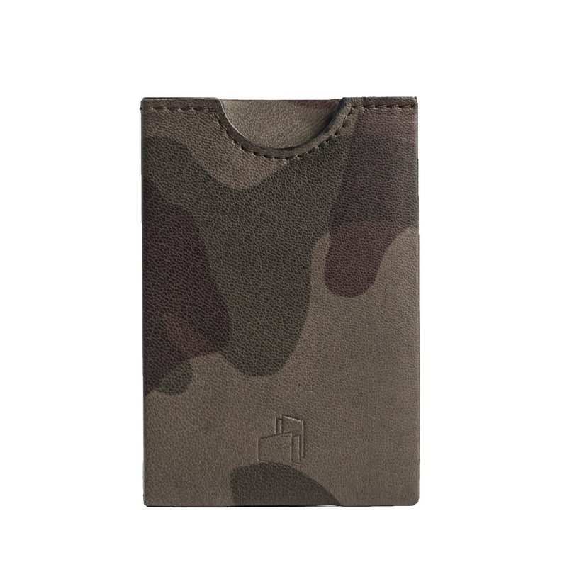 Toronto Camou Printed Leather RFID Card Holder