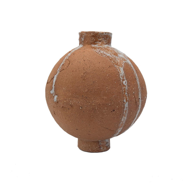 Gold Ceramic Sphere Vase