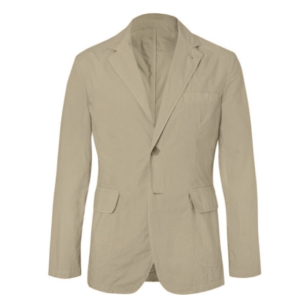 Sand Cotton Unstructured Jacket (Made to Order)