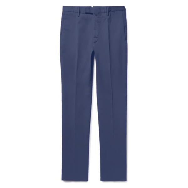 Navy Cotton Chinos (Made to Order)
