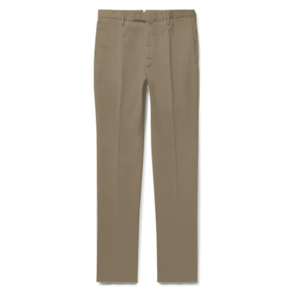 Taupe Cotton Chinos (Made to Order)