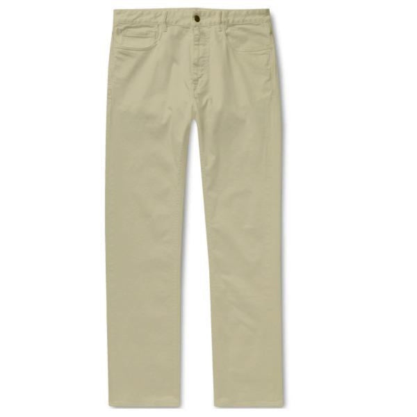 Khaki Cotton Jeans (Made to Order)