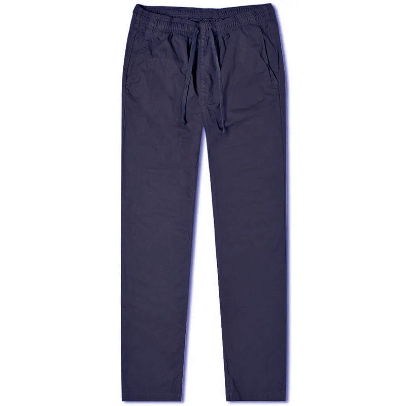 Navy Cotton Drawstring Trousers (Made to Order)