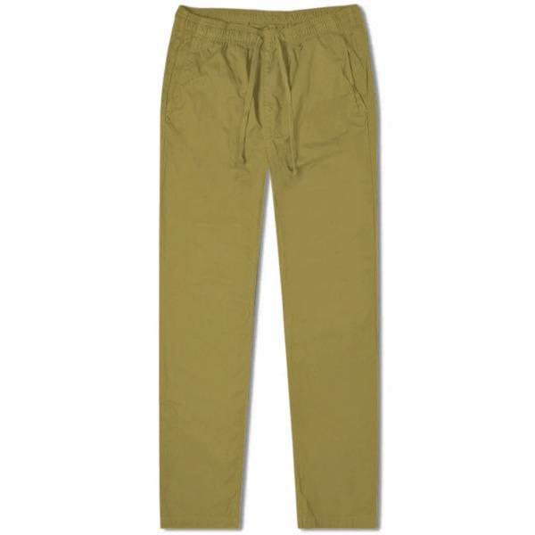 Khaki Cotton Drawstring Trousers (Made to Order)