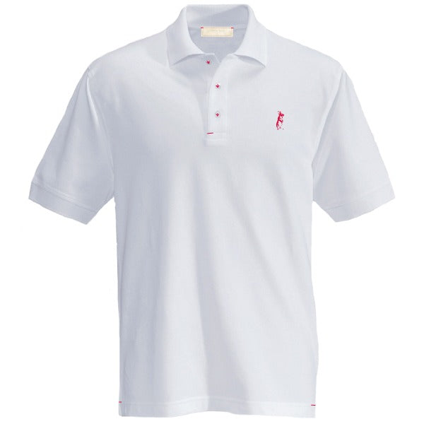 The Classic Kevin Seah Polo Shirt (White/ Red Logo)