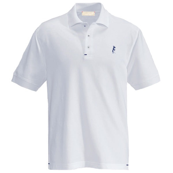 The Classic Kevin Seah Polo Shirt (White/ Navy Logo)