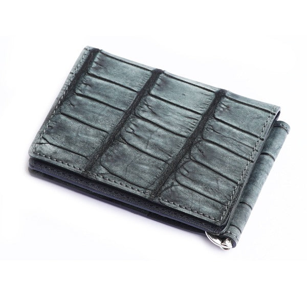Grey Crocodile Wallet