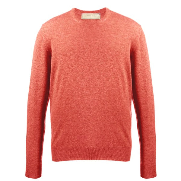 Russet Red Cotton Cashmere Crew Neck Sweater