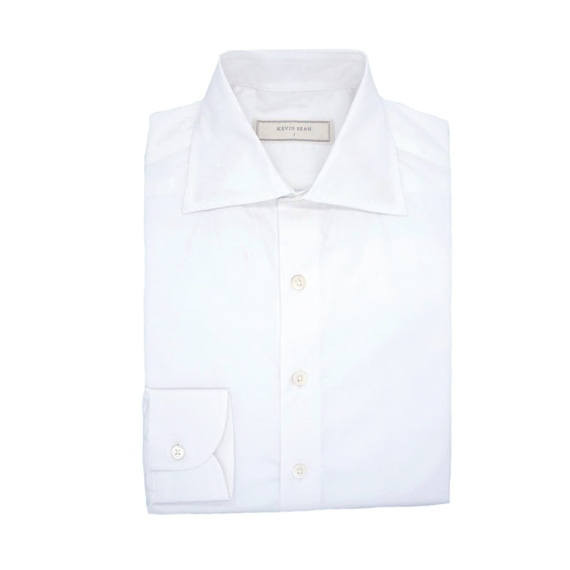 White Poplin Long Sleeved Shirt