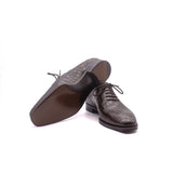 Brown Alligator Wholecut Oxfords