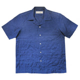 """TOSHI"" Blue Japanese Seersucker Short Sleeved Shirt (Made To Order)"