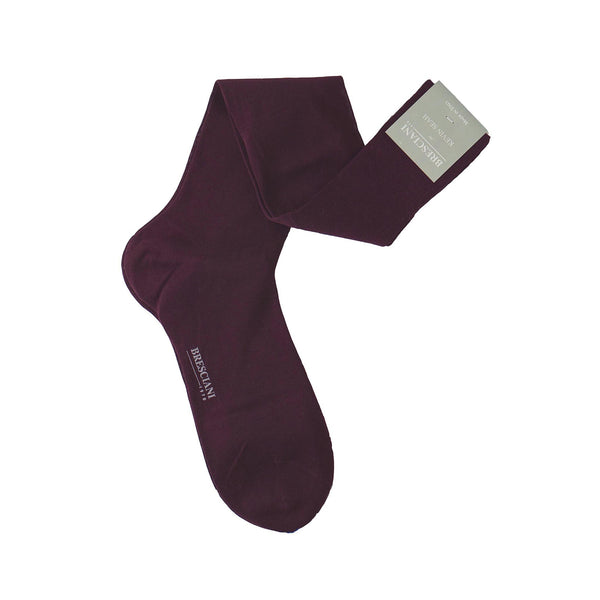 Burgundy Over the Calf Socks