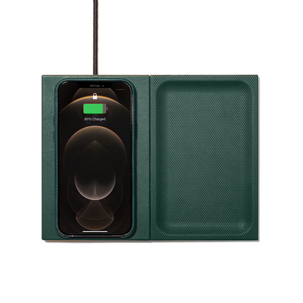 HERITAGE VALET WIRELESS CHARGER - Dark Green