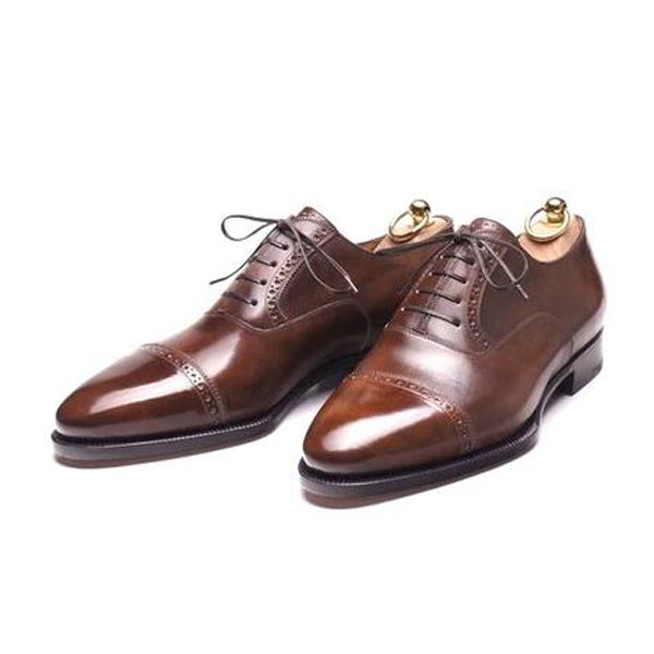 Chelmer Museum Calf Cap Toe Oxfords