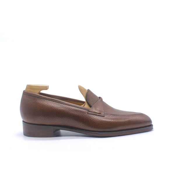 Antibes Chestnut Hatchgrain Loafers