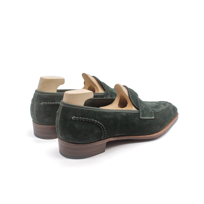 Tintagel Green Suede Loafers