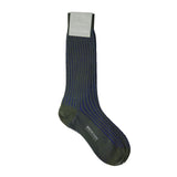 Bresciani for KEVIN SEAH - Mid Calf (Green / Electric Blue Ribbed)